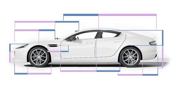 黄金比の参考事例車のデザイン