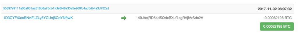 ビットコインアドレス例
